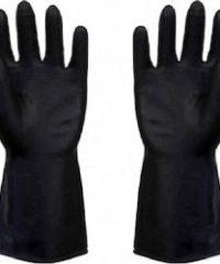 Γάντια Βαμβακερά Μαύρα Με Επικάλυψη Latex