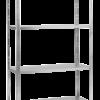 Ραφιερα μεταλ 4 ραφια μεταλλικα 150χ75χ30  50kg/ραφι 54527