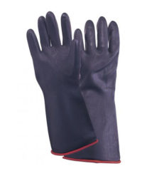 Γάντια Βιομηχανικά Μαύρα Latex 27Cm