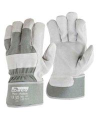 Γάντια Εργατών Δερματοπάνινα No10.5 Maxi-Action Maco