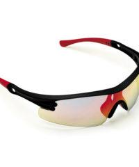 Γυαλιά Ηλίου Κόκινα Με Καθρέφτη Και Μαύρο Σκελετό Maco