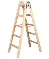 Σκάλα Ξύλινη 1.5M Με 4 Σκαλοπάτια