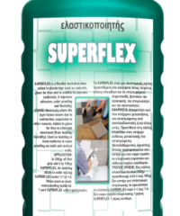 Superflex Ενισχυμένη Οικοδομική Ρητίνη 10Ltελαστικοποιητής Κονιαμάτων. Το Superflex Είναι Μια Ελαστομερής Ρητίνη Προστιθέμενη Στα Κονιάματα Όπως Τσιμέντο, Είδη Χρωματοπωλειου > Αφροί - Κόλλες - Είδη Χρωματοπωλειου > Αφροί - Κόλλες - Σιλικόνες > Σιλικόνες
